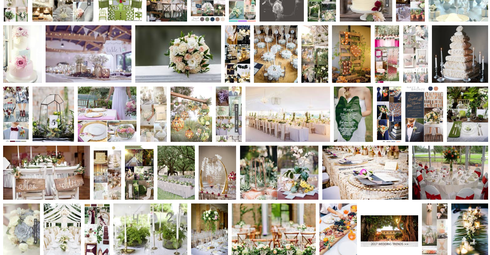 2018 trends going strong deejays event rentals we searched for 2017 wedding table decor trends and took a screenshot of what came up a glance at the image really says junglespirit Choice Image