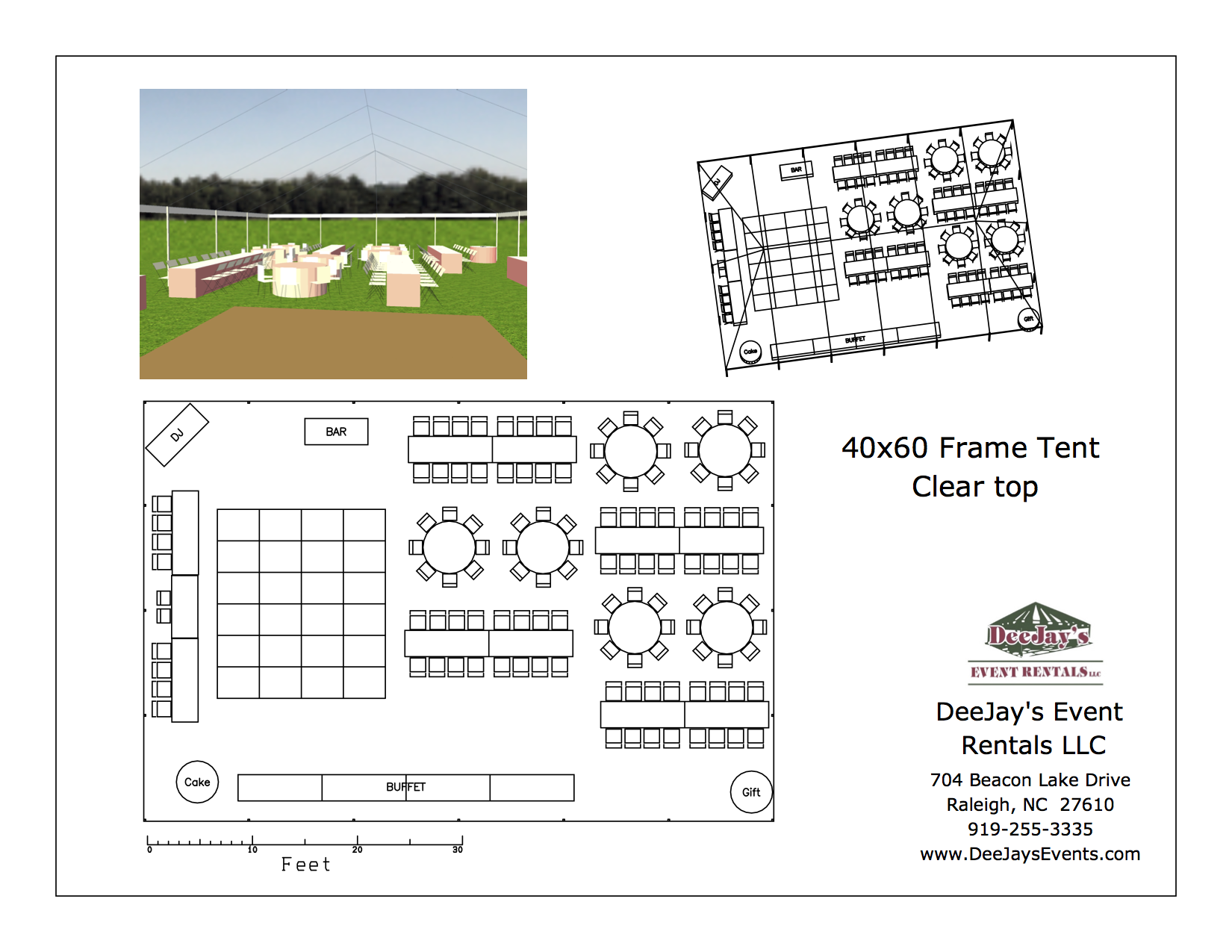 40x Frame Tent Layouts - DeeJay\'s Event Rentals